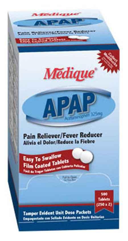 Medique 14513 Acetaminophen Pain Relief Tablet packets, 250 packsMedique 14513 Acetaminophen Pain Relief Tablet packets, 250