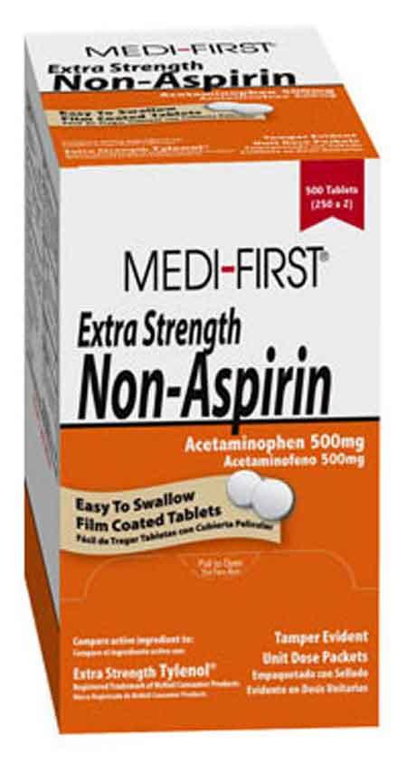 Medique® Medi-First® 80433 Extra Strength Non-Aspirin Tablets, 50 dose packsMedique® Medi-First® 80433 Extra Strength Non-Aspirin Tablets, 50