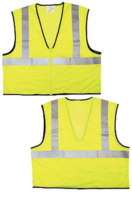 MCR VCL2MLZL Lime Class 2 Mesh Hi-Vis Safety