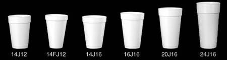 Dart®, Cold & Hot Cup, White, Polystyrene Foam, 20 oz, 25 per Bag 1000 per CaseDart®, Cold & Hot Cup, White, Polystyrene Foam,