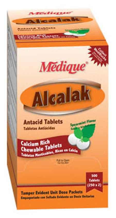 Chewable Calcium Carbonate Tablets Medique® 10113 Alcalak