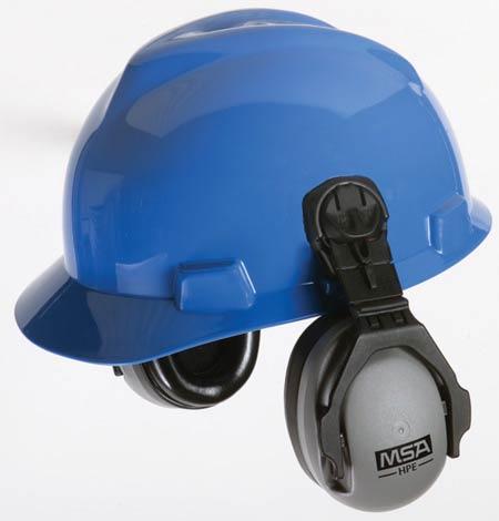 MSA Cap Mounted Earmuffs HPE for MSA Hard Hats 27dB 10061272MSA Cap Mounted Earmuffs HPE for MSA Hard