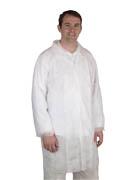 3XL White Disposable Lab Coat Polypropylene Industrial Grade M83XL White Disposable Lab Coat Polypropylene Industrial Grade