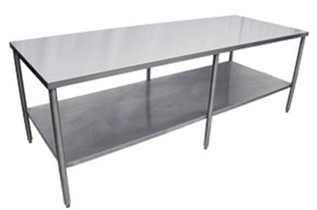 """Stainless Steel Prep Table with Undershelf 24"""" W x 36"""" H Heat SealStainless Steel Prep Table with Undershelf 24"""" W"""
