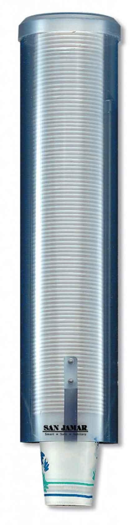 San Jamar SJMC3260TBL Cup Dispenser, Arctic Blue
