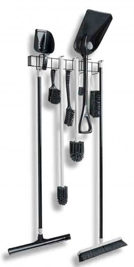 Rackem™ Hook Rack, PVC, 6-1/2 in, 26 in,