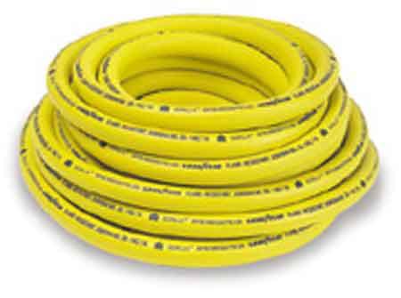 """50' Gorilla® Multipurpose Hose Yellow Nitrile Rubber ¾"""" ID & Fittings50' Gorilla® Multipurpose Hose Yellow Nitrile Rubber ¾"""""""