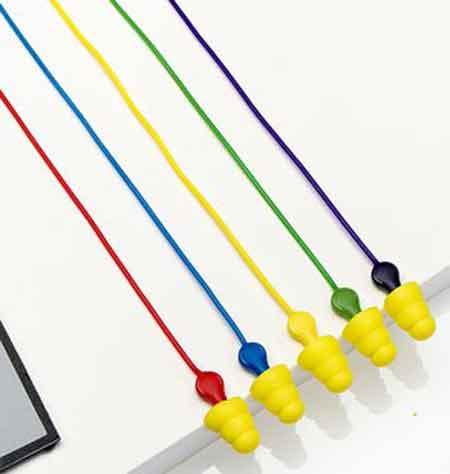 E-A-R™, Reusable Earplug, Corded, Yellow, Multi-Flange, 26 dBE-A-R™, Reusable Earplug, Corded, Yellow, Multi-Flange, 26 dBE-A-R™,