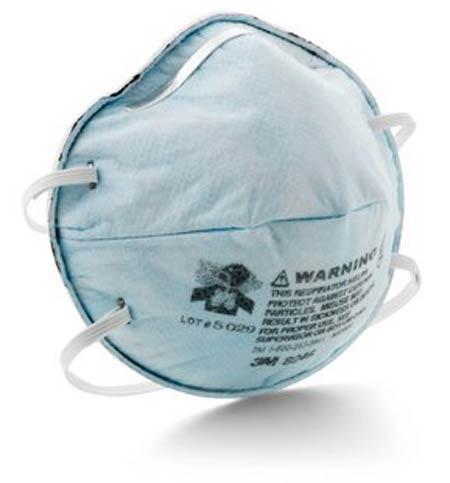 Disposable Respirator, R95, Light Blue, Universal