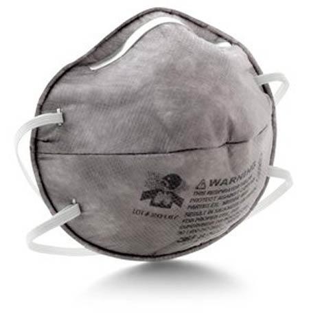 Disposable Respirator, R95, Gray, Universal