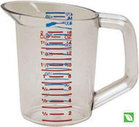 Rubbermaid 0.5 Quart Measuring Cup Clear Bouncer® FG321500CLRRubbermaid 0.5 Quart Measuring Cup Clear Bouncer® FG321500CLRRubbermaid