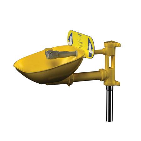 Halo™ Eyewash Station Wall Mount w/ Yellow Bowl Bradley S19224EWHalo™ Eyewash Station Wall Mount w/ Yellow Bowl