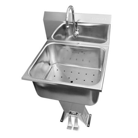 Columbia® 512L Sani-Lav® Food Service Foot-Pedal Sink