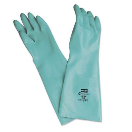 Nitriguard Plus™ Green Nitrile Gloves Chemical Resistant 25