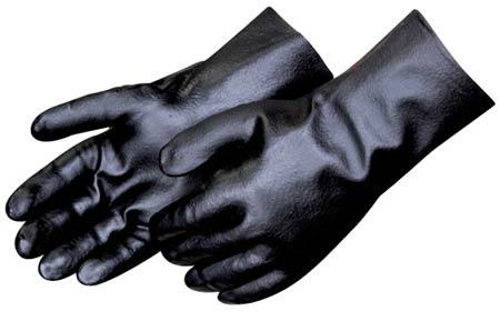 Chemical-Resistant Gloves, Black, PVC, 14 in, Gauntlet, InterlockChemical-Resistant Gloves, Black, PVC, 14 in, Gauntlet, InterlockChemical-Resistant