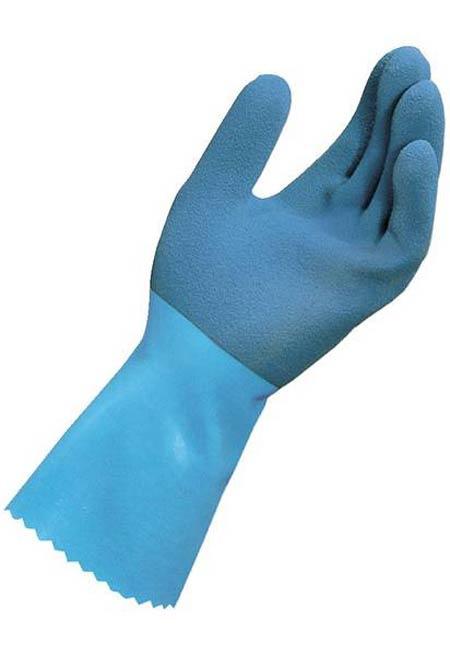 MAPA® LL-301 Blue Grip Gloves, Natural Latex