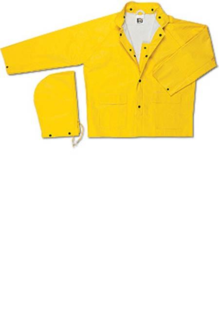 MCR 600JL Large Yellow PVC/Non-Woven Polyester Rain JacketMCR 600JL Large Yellow PVC/Non-Woven Polyester Rain JacketMCR