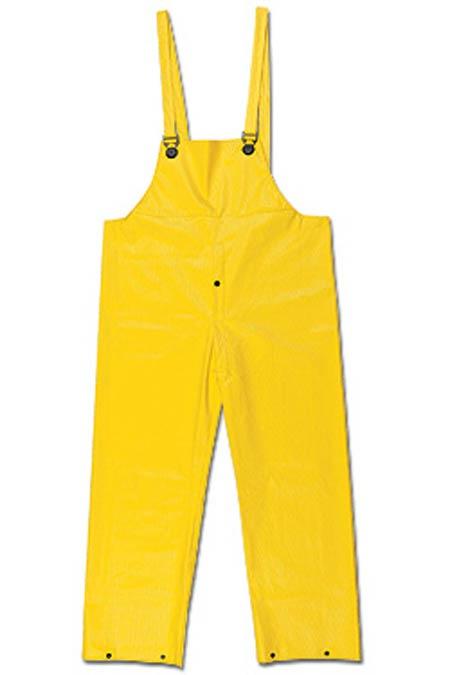 Bib Overall, PVC / Non-Woven Polyester, Yellow, X-Large, Welded|StitchedBib Overall, PVC / Non-Woven Polyester, Yellow, X-Large,