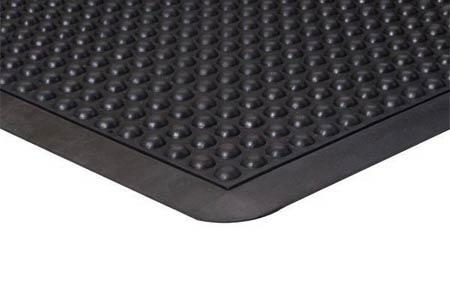 Apache Mills BubbleFlex™ 39-097-0900-20000300 Black Rubber Dry Mat, 2' x 3'Apache Mills BubbleFlex™ 39-097-0900-20000300 Black Rubber Dry Mat,