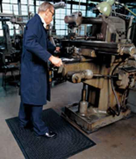 Comfort-Eze™ Anti-Fatigue Black Rubber Dry Mat, 60 x 30 inchComfort-Eze™ Anti-Fatigue Black Rubber Dry Mat, 60 x