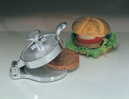 Hamburger Mold, Heavy Cast Aluminum, 3.5 oz, 4.5 in, 12 per Pack 36 per Case, Adjustable for Portion ControlHamburger Mold, Heavy Cast Aluminum, 3.5 oz, 4.5