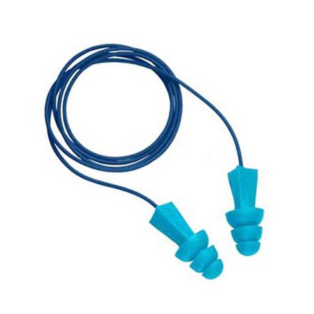 Tasco 9022 Tri-Grip Jr M-Tek Blue Metal Detectable Ear Plugs 27dBTasco 9022 Tri-Grip Jr M-Tek Blue Metal Detectable