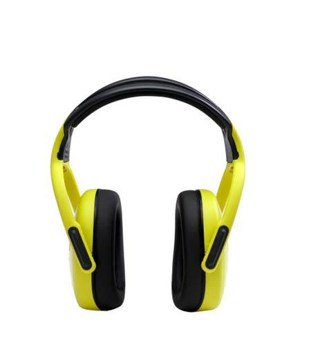 Earmuff, Yellow, Headband Over the Head, Noise Blocking, 28 dBEarmuff, Yellow, Headband Over the Head, Noise Blocking,