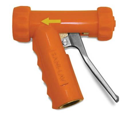 "SANI-LAV N1S Insulated Spray Nozzle Orange 3/4"" GHT Swivel AdapterSANI-LAV N1S Insulated Spray Nozzle Orange 3/4"" GHT"