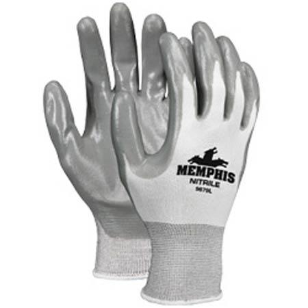 MCR Memphis™ 9679 Nylon Gray Nitrile Coated Palm/Fingers
