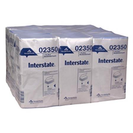 GP Interstate® Blue 1-Ply Singlefold Windshield Towels