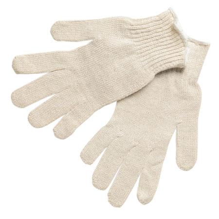 MCR Safety 9634 White Reversible String Knit Economy Gloves MCR Safety 9634 White Reversible String Knit Economy