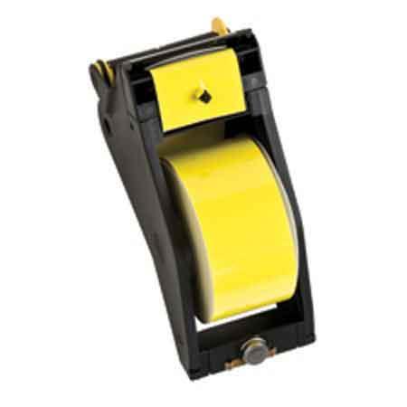 Tape Cartridge, Vinyl Film, Gloss, Black / Yellow, 2-1/4 in, 90 ftTape Cartridge, Vinyl Film, Gloss, Black / Yellow,