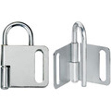 Lockout Hasp, Steel, Gray, 4