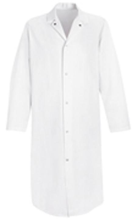 VF 4006WH Butcher Coat, No Pockets, XL