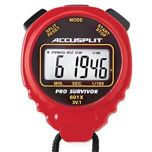 Accusplit® Pro Survivor Stopwatches Digital Assorted Colors