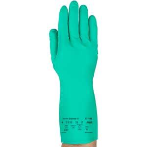 """Ansell Solvex® Gloves Nitrile Green 11 Mil 13"""""""