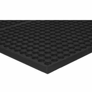 Apache Mills® Black Rubber Anti-Fatigue Mat Non-Slip 3' x 5'Apache Mills® Black Rubber Anti-Fatigue Mat Non-Slip 3'