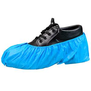 Keystone® SC-CPE-XL Blue Embossed Light Vinyl Shoe Covers XL Water Repellant Keystone® SC-CPE-XL Blue Embossed Light Vinyl Shoe Covers