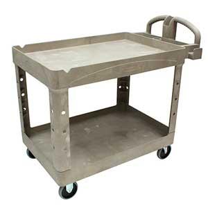Rubbermaid FG452088BEIG Beige Utility Cart, 2 Shelves, 500lbsRubbermaid FG452088BEIG Beige Utility Cart, 2 Shelves, 500lbsRubbermaid