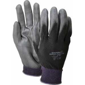Showa® BO500B Black 13-Gauge Nylon Polyurethane Coated Gloves