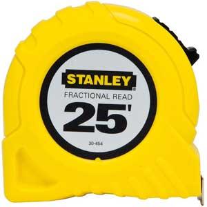 Stanley® 30-454 25 ft Fractional Read Tape MeasureStanley® 30-454 25 ft Fractional Read Tape MeasureStanley®