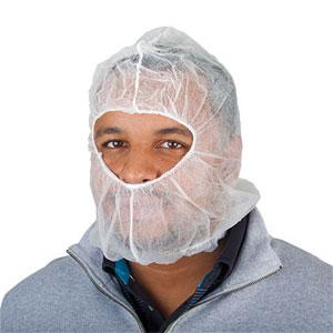 M8 M20HCW White Polypropylene Head Cover Hood