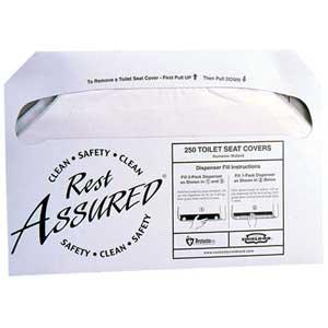 RMC® Rest Assured® 25177673 Half Fold Flushable Toilet Seat CoversRMC® Rest Assured® 25177673 Half Fold Flushable Toilet