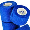 Tempo Medical Blue CotZee Cohesive Bandage Wrap Rolls