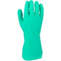 Green Nitrile Diamond Grip Glove, 11-Mil, Size 7